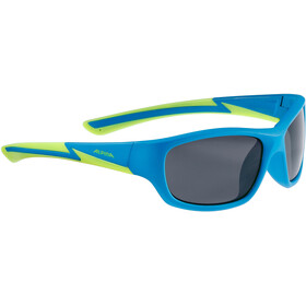Alpina Flexxy Youth Sykkelbriller Barn blue matt-lime